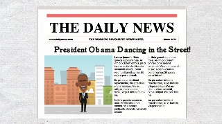 President Obama dancing in the street
